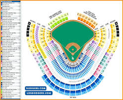 Dodger Stadium Seating Chart 2019 Dodger Stadium Seating Chart With Seat Numbers Best