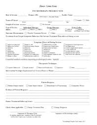 Therapy Progress Notes Template Examples Note Dealbrothers Co