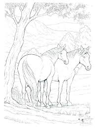 Rocking Horse Coloring Pages Pattern Printable Of Realistic Horses