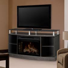 windham silver charcoal electric fireplace media console gds25hl 1015sc