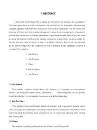 Job Portal Documentation | Java Servlet | Java (Programming Language)