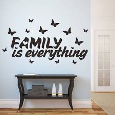 Small Picture New Home Decor Butterfly Family Is Everything Quote Wall Stickers