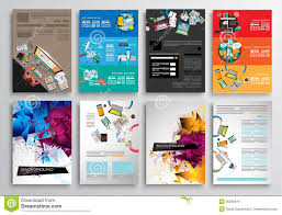 Infographic Website Template Set Of Flyer Design Web Templates Brochure Designs Infographics
