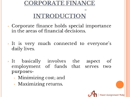 corporate finance assignment help corporate finance assignment help needassignmenthelp com corporate finance assignment 2
