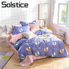 twin duvet covers solstice home textile purple fox bedding sets kid teen girl linens queen quilt twin duvet covers