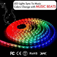 Led Lights Sync To Music Rgb Led Strip Lights Sync To Music 5m 150 Led Lamp Smd 5050 Waterproof Flexible Strip Lamps Ir Controller Screen Tv Night Light