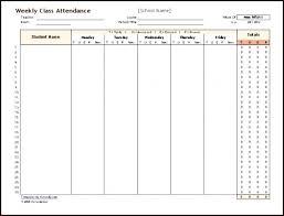 School Class Attendance Register Book Template Meaning Form S Weekly