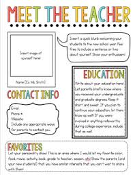 Teachers Newsletter Templates Meet The Teacher Newsletter Template