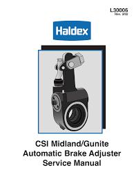 Csi Midland Gunite Automatic Brake Adjuster Service Manual