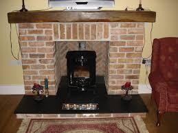 Fancy Fireplace Appealing Red Brick Fireplace Ideas Fancy Wooden Shelf And Licious