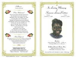 Memorial Program Templates Free Sample Funeral Program Template Complete Guide Example 24