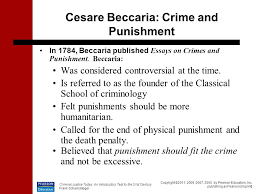 causes of crime why does a person commit a crime what causes cesare beccaria crime and punishment
