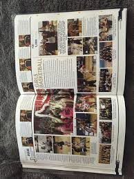 basketball yearbook page