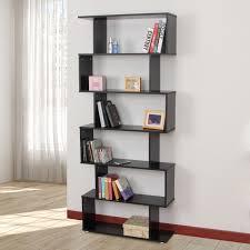 office furniture shelves. homcom wooden s shape bookcase 6 shelves storage display home office furniture i