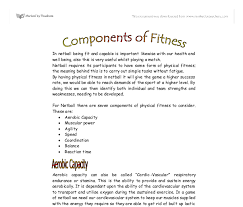 components of fitness for netball a level physical education  document image preview