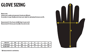 Goat Skin Leather Glove Size Chart
