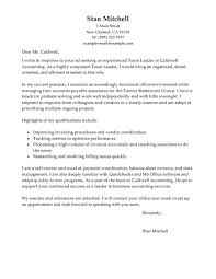 Team Leader Resume Cover Letter Best Management Team Lead Cover Letter Examples LiveCareer 1