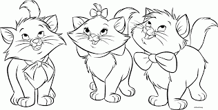 Small Picture Beautiful Cat Black White Coloring Page Ideas Coloring Page