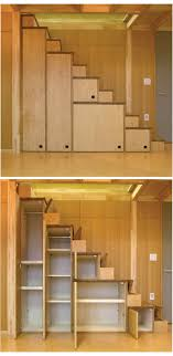 Space Saving Cabinet Cabinets Stairs With Flip Up Steps And Very Narrow Stairs Each