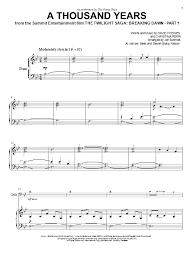 a thousand years piano sheet music a thousand years sheet music direct