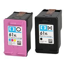 2 compatible hp 61 black hp61 colour deskjet 1000 1010 1510 2050 2540 3050 ch561w ch562