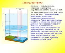 Биосфера оболочка Земли Границы Биосферы