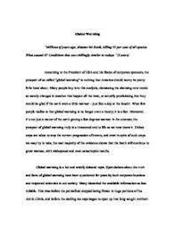 global warming essay arguing the side humans are not the cause  global warming