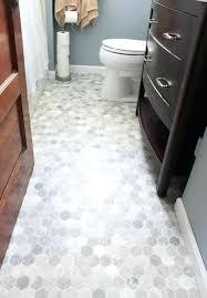 bathroom floor tile hexagon. Hexagon Tiles Bathroom Gray Tile 7 8 Floor