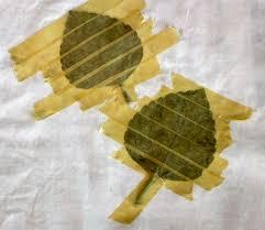 hammered leaves art