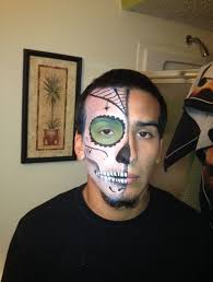 seven ingenious ways you can do with candy skull makeup male tattoo design