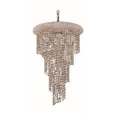 elegant lighting spiral 16 8 light elegant crystal chandelier ceiling lights best canada