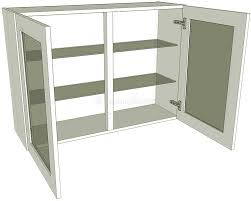 Small Picture Glazed Double Kitchen Wall Unit Medium 720 high