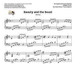 beauty and the beast sheet music and the beast disney sheet music pdf