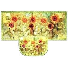 mohawk accent kitchen rugs mat rug home sunflower decorati