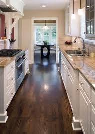 cabinet and lighting. love the dark wood floors white cabinets and light granite counter combination cabinet lighting