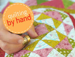 Quilting by hand. Since by machine was a bust. :) | Sew many ... & Quilting by hand. Since by machine was a bust. :) Adamdwight.com