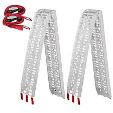Amazon.com: Yaheetech Pair 7.5' Aluminum Truck Ramps/ATV Ramps ...