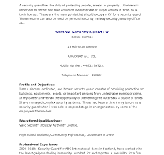 Cute Sample Cover Letter Security Guard Job With Additional For No