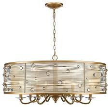 golden lighting joia 8 light chandelier peruvian gold sheer filigree mist