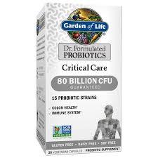 garden of life dr formulated critical care probiotics 80 billion cfu 30 ct com