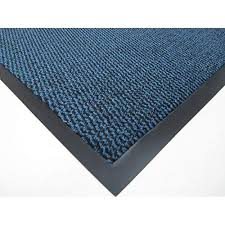 ahoc big extra large blue and black barrier mat rubber edged heavy duty non slip kitchen entrance hall runner