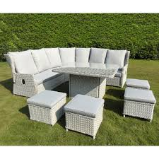 kensington buckingham 8 piece reclining corner sofa set lunar