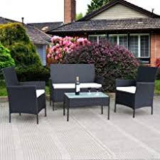 patio furniture sets. TANGKULA 4 Pcs Wicker Furniture Set Outdoor Patio Rattan Sofas Garden Lawn Poolside Cushioned Sets A