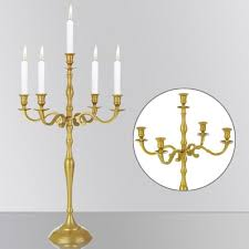 chandelier 5 branches 40cm alliage d aluminium dor