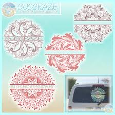 Learn how to make a layered mandala with cardstock. Hand Drawn Mandala Zentangle Split Frame Bundle Svg So Fontsy