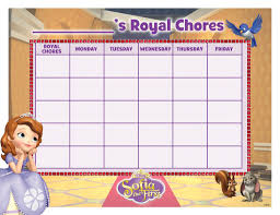 Doc Mcstuffins Chore Chart 30 Sofia The First Party Ideas Free Printables Must Haves