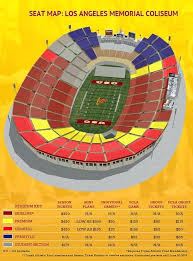 Usc Stadium Seating Gallery For Football Seating Chart Memorial