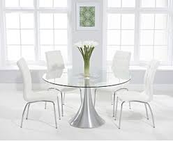 paloma 135cm round gl dining table with calgary chairs