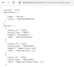 sellers json an iab tech to improve