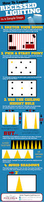 infographic map out your recessed lights on the ceiling